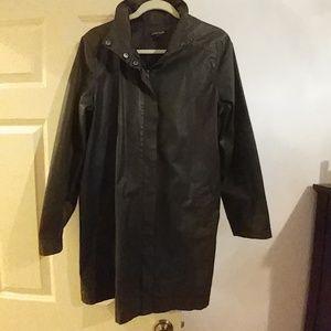 Eileen Fisher waxed cotton light jacket